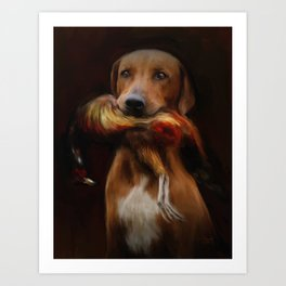 Hunter's Dog Art Print