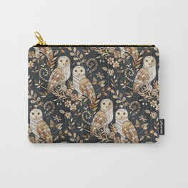 Wooden Wonderland Barn Owl Collage Carry-All Pouch