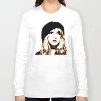 stevie nicks Long Sleeve T-shirts featuring Stevie Nicks - Rhiannon - Pop Art by William Cuccio aka WCSmack