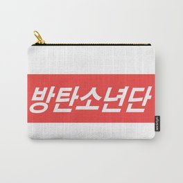 BTS Hangul Bangtan Boys red Carry-All Pouch