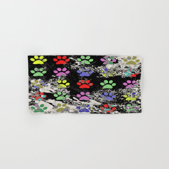 Paw Prints Pattern III - Textured Hand & Bath Towel
