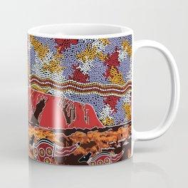 Uluru (Ayers Rock) Authentic Aboriginal Art Coffee Mug