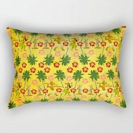 Tropical Island Unicorn Rectangular Pillow