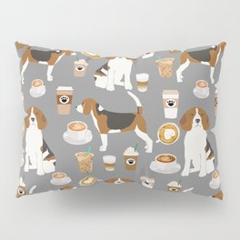 Beagles Coffee print cute dog beagle fabric pillow iphone case Pillow Sham