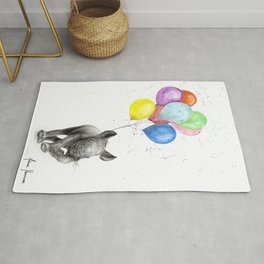 The Rhino and The Balloons Rug