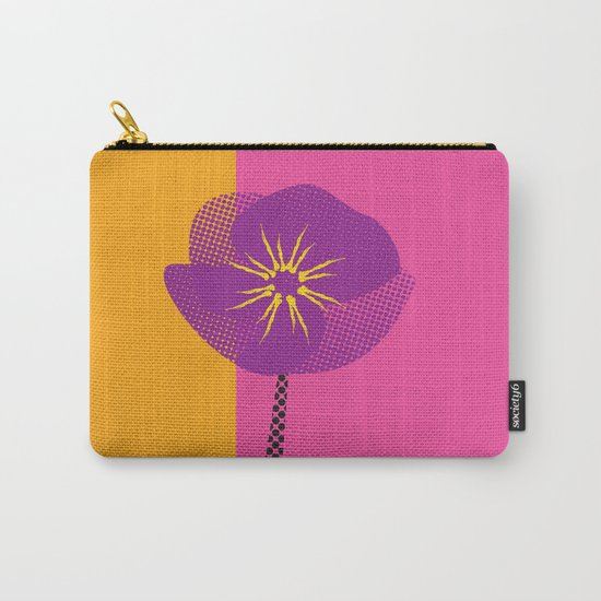 Flower - Abstract variation of pop art Carry-All Pouch