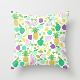 Fruit Punch Retro 2 Throw Pillow