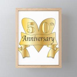 50th Anniversary Heart Framed Mini Art Print