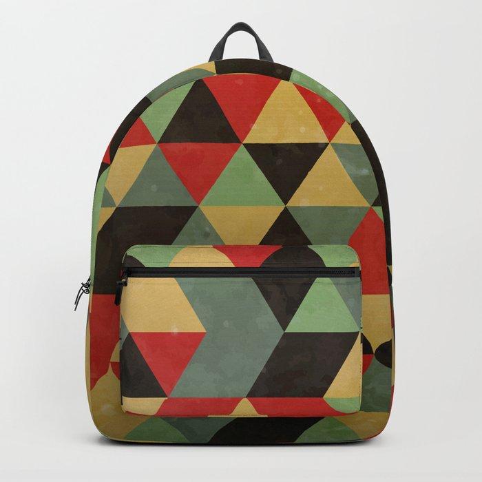 Retro Pattern Backpack