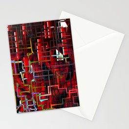 red installation Stationery Cards