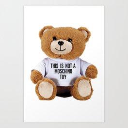 TEDDY BEAR PARFUM MOSCHINO Art Print