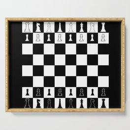 Chess Board Layout Serving Tray