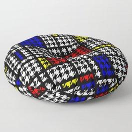 Houndstooth Modern Art Grid Pattern Floor Pillow