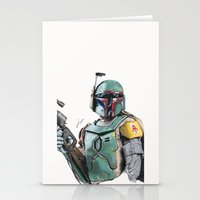 boba Stationery Cards featuring Boba Fett by lunaevayg