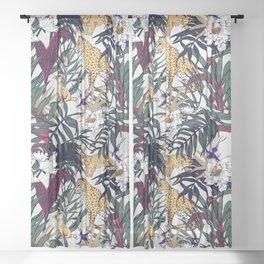 Mosaic reflection of the jungle Sheer Curtain