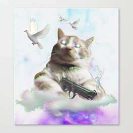 mi$hka the tra$hkat Canvas Print