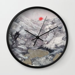 Alpine Moon Wall Clock