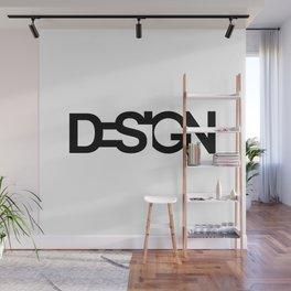 Typo Design Wall Mural