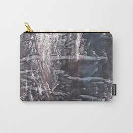 Dark slate gray colorful wash drawing texture Carry-All Pouch
