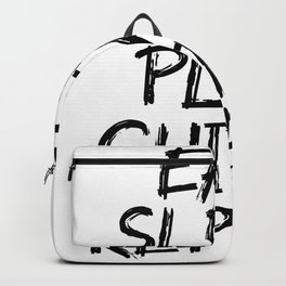 eat sleep play guitar repeat Backpack