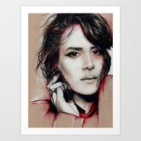 sarah paulson Art Prints featuring Sarah by marziiporn