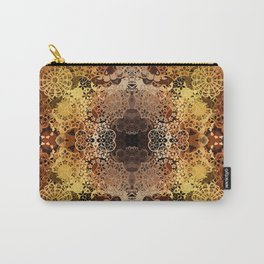 FLORAL GOLD PATTERN I Carry-All Pouch