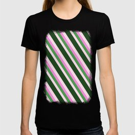 Pink Roses in Anzures 1 Stripes 4D T-shirt