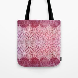 ABERDEEN HEIRLOOM, LACE & DAMASK: REBECCA'S RED Tote Bag