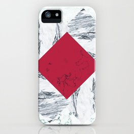Red + Marble iPhone Case