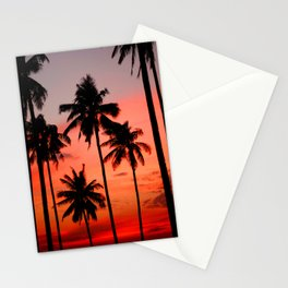 Tropical Island Sunset Stationery Cards
