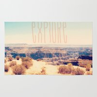 explore Area & Throw Rugs featuring Explore by Bunhugger Design