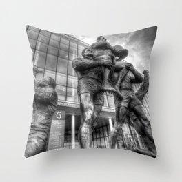 Rugby League Legends statue Wembley stadium Throw Pillow