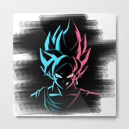 Goku X Black Metal Print