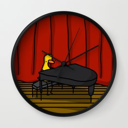 Ducky Pianist | Veronica Nagorny Wall Clock