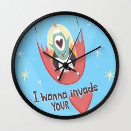 I wanna invade your heart Wall Clock