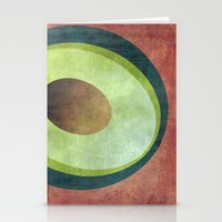 avocado Stationery Cards featuring Avocado by Red Coat Studio Design