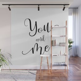 You and Me in Black and White Wall Mural