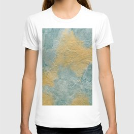 Copper Turquoise Abstract Angel Prayer Painting #01 T-shirt