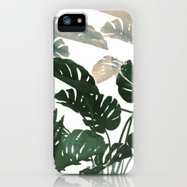 green leaves monstera iPhone Case