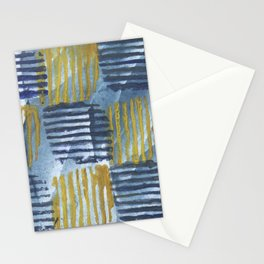 Abstract yellow blue Stationery Cards