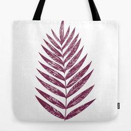 Simple Botanical Design in Dark Plum Tote Bag