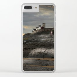 Steampunk / Burtonesque Coastal Fort Clear iPhone Case