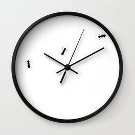 ants on white Wall Clock