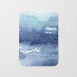 Blue Watercolour Ocean Bath Mat