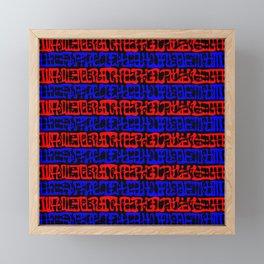 Mysterious Symbols Framed Mini Art Print