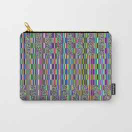 Old TV screen error glitch effect Carry-All Pouch