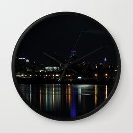 City Lights on the Water Wall Clock