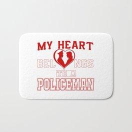 My heart belongs to a Policeman Bath Mat