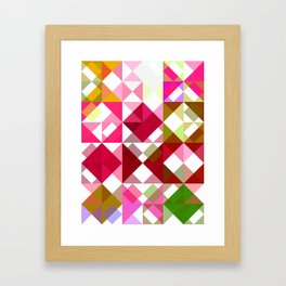 Crape Myrtle Abstract Triangles 1 Framed Art Print