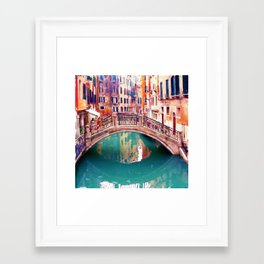 Small Bridge in Venice Framed Art Print